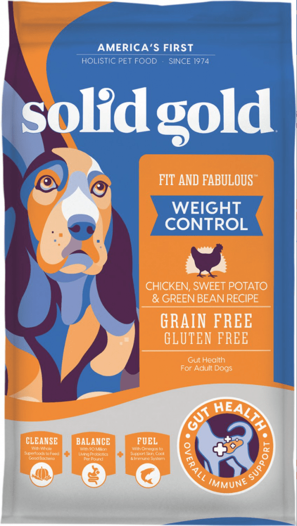 Solid Gold Fit & Fabulous Weight Control Grain-Free Chicken, Sweet Potato & Green Bean Dry Dog Food