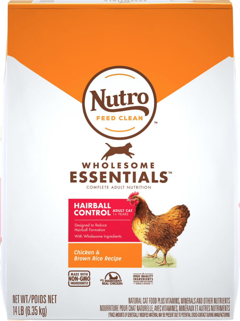 Nutro Wholesome Essentials Hairball Control Chicken & Brown Rice Recipe Adult Dry Cat Food