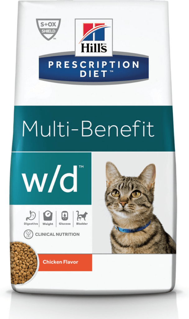 Hill's Prescription Diet w/d Multi-Benefit Digestive, Weight, Glucose, Urinary Management with Chicken Dry Cat Food